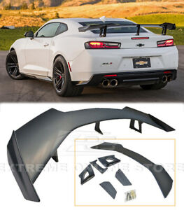 For 16 up Camaro Zl1 1le Style Rear Trunk Spoiler Wing Abs Plastic Primered Bk