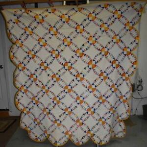 Antique Wedding Ring Variation Quilt Rare Pattern 18205