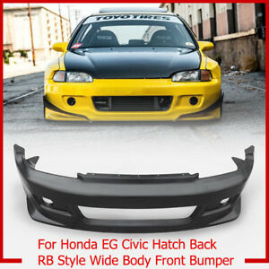 Frp For Honda Eg Civic Hatch Back Rb Style Wide Body Front Bumper Protector Part