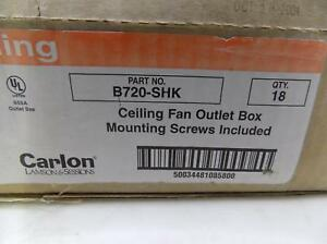 Carlon Qty 18 Ceiling Fan Outlet Box B720 shk Nib