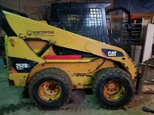 2011 Cat 252b Skid Steer With Bucket Runs Perfect Heated Cab Ready To Go