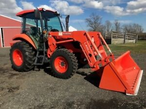 2016 Kubota M6060 Tractor Cab Ac Diesel 4x4 3 Point Hitch Counter Weight Farm Ag