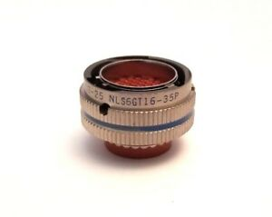 Nls6gt16 35p Mil spec Circular Connector By Itt Cannon