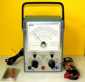 Vintage Rca Voltohmyst Wv 77e Voltmeter In Org box Tubes radio New Old Stock