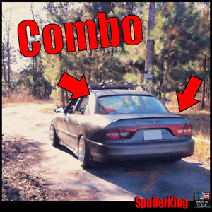 Combo Spoilers fits Mitsubishi Galant 1994 98 Rear Roof Wing Trunk Lip