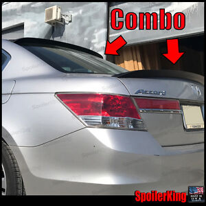 Honda Accord 2008 2012 4dr Rear Roof Spoiler Trunk Wing Combo 380r 301g