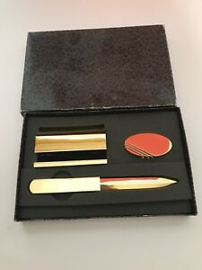 Vintage Gold Plated Card Holders Letter Opener