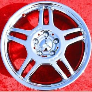 Set Of 4 New Chrome 17 Mercedes Benz C32 Slk32 Amg Oem Wheels C230 C280 65262