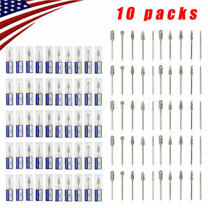 100 Polishing Tungsten Carbide Steel Burs 2 35mm Drill For Micromotor Handpiece