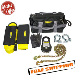 Smittybilt 2725 Winch Accessory Kit Choker Chain Recovery Strap D Rings