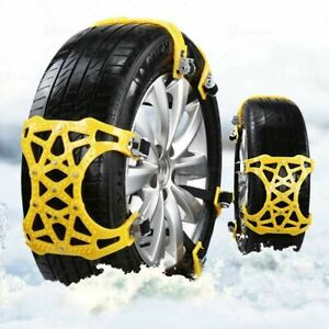 Zone Tech Car Tire Truck Snow Ice Mud Chains Anti Skid Diamond Pattern Traction