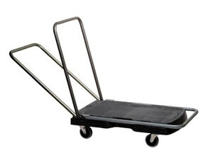 Rubbermaid Home And Office Utility Triple Trolley Flat Cart 500 Lb Capacity
