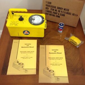 Radiological Survey Meter v 715 1a With Box And Extras Landers Fray
