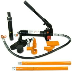 4 Ton Hydraulic Portapower Set Auto Body Repair Jack Tool Kit Porta Power