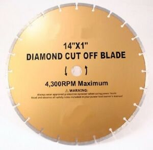 14 Inch Diamond Cut Off Saw Blade Tool For Stone Concrete