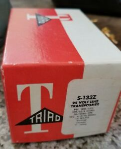 Vintage Triad S 133z 25 Volt Line Audio Transformer New Nos