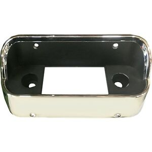 1967 68 Ford Mustang Dash Radio Chrome Bezel Original Style Without Console