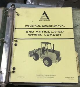 Allis Chalmers 940 Articulated Wheel Loader Service Manual