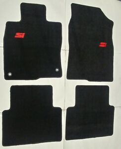 Fits 16 19 Honda Civic 4dr Floor Mats Black 4pc W Emblem New