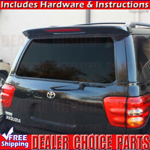 For 2001 2007 Toyota Sequoia Factory Style Spoiler Roof Wing W led Unpainted