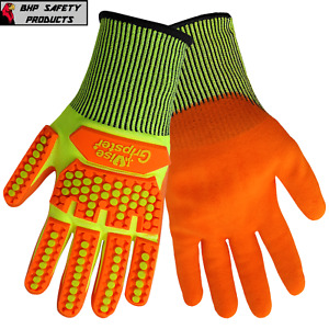 Global Glove Vise Gripster Cut Resistant Work Gloves Impact Cia998mf Sz Large