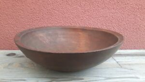Important Antique Wooden Treen Bowl Alpine 1800