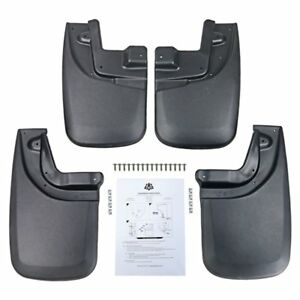 Replacement For 05 15 Toyota Tacoma W Factory Fenders Premium Mud Flaps Set Of 4