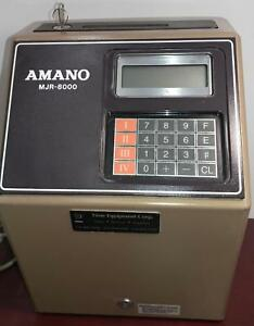 Used Amano Computerized Employee Time Clock Mjr 8000