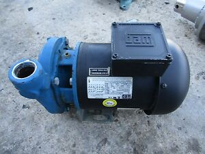 Scot Model 11 Standard 1hp 3ph End Suction Centrifugal Motorpump 1 25 X 1