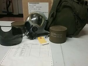 Small Military Msa Mcu2p Millennium Nato Nbc Cbrn Gas Mask Respirator Kit