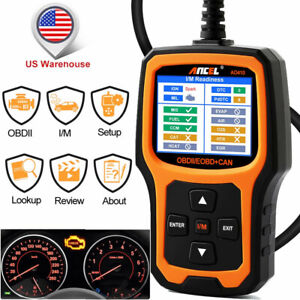 Ancel Ad410 Engine Obd2 Code Reader O2 Sensor Test Car Diagnostic Tool Scanner