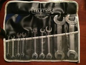 Vintage Armstrong 9 Piece Wrench Set In Case 3 4 To 5 32 Automotive Ignition