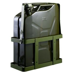 5 Gallon 20l Gas Jerry Can Fuel Steel Tank Military Green With Holder Us Stock