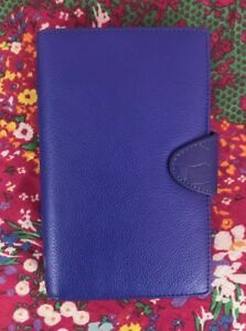 Filofax Calipso Compact Organizer Deluxe Leather Blue Planner New