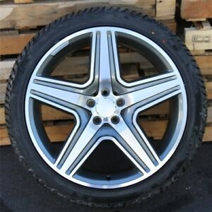4 21x10 5x112 Wheels Winter Tires Pkg Benz Gl63 Gl450 Gl550 Gl350 Ml350