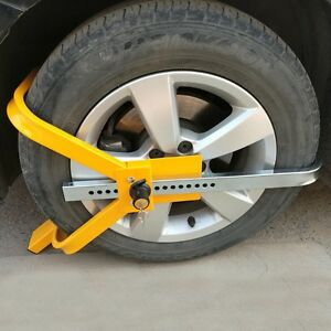 Wheel Tire Lock Clamp Parking Boot Anti Theft For Boat Trailer Car Suv Atv Hot