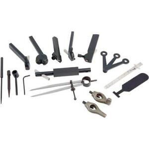 H5868 Lathe Tool Kit For Rocker Style Tool Post 20 Pc