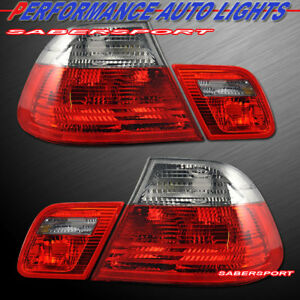 Red Smoke Taillights Trunk Light 4pcs For 2000 2003 Bmw E46 3 Series 2dr Coupe