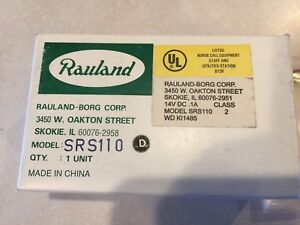Rauland Responder Srs110 Staff Register Nurse Call Station nos