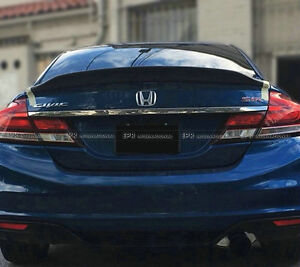 Rear Ducktail Spoiler Trunk Wing Carbon For Honda Civic 9th Generation 2013 2015
