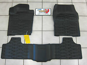 2011 2012 Jeep Grand Cherokee Rubber Slush Mats Floor Mats Front Rear Mopar