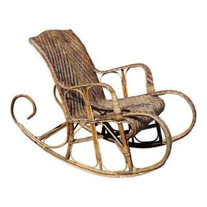 Very Large French Art Deco Rocking Chair Exotic Wood Circa 1950s As Is