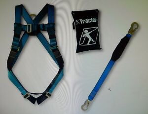 New Tractel Safety Full Body Harness Lanyard Kit One Size