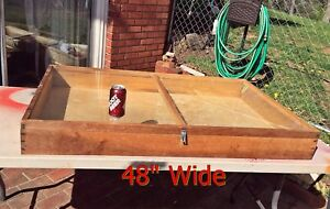 Large 30x48 Wooden Table counter Top Showcase Flea Market antique Mall show
