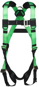Premium Roofer Harness Gear Fall Protection Climbing Tree High Visible Green