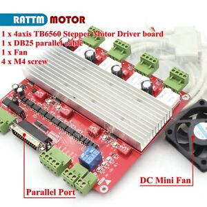 4axis Tb6560 Stepper Motor Driver Cnc Controller Board V Type For Router Machine