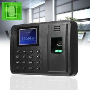 Biometric Fingerprint Attendance Time Clock Employee Check in Payroll Recorder