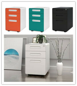 Orford 3 Drawer Metal Mobile File Storage Cabinet Filing Organizer Home Office
