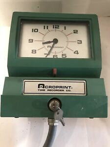 Acroprint 150er3 Heavy Duty Automatic Time Recorder For Day Of The Week Hour