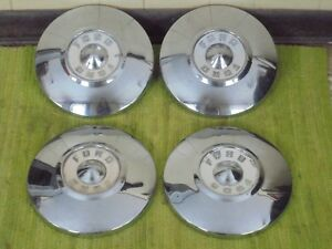 55 56 Ford Dog Dish Hub Caps 10 1 2 Set Of 4 Poverty Hubcaps 1955 1956
